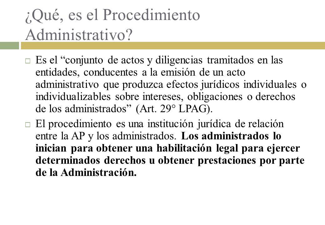 ¿Qué, es el Procedimiento Administrativo