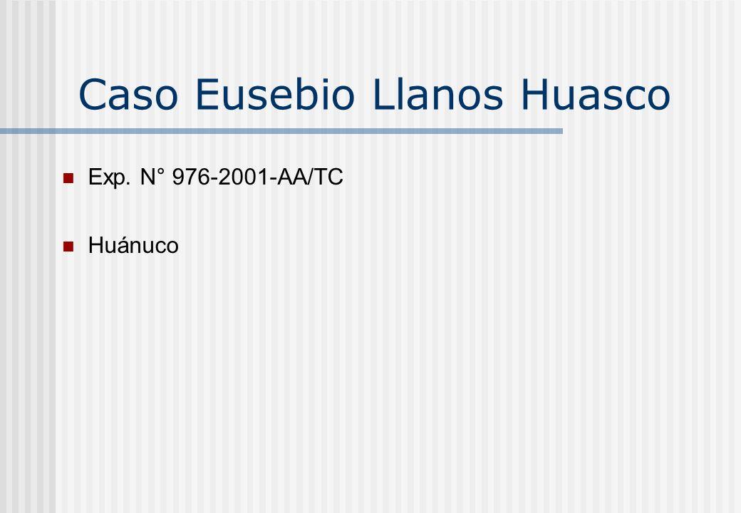 Caso Eusebio Llanos Huasco