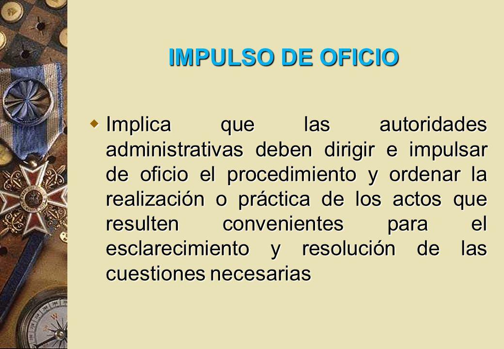 IMPULSO DE OFICIO