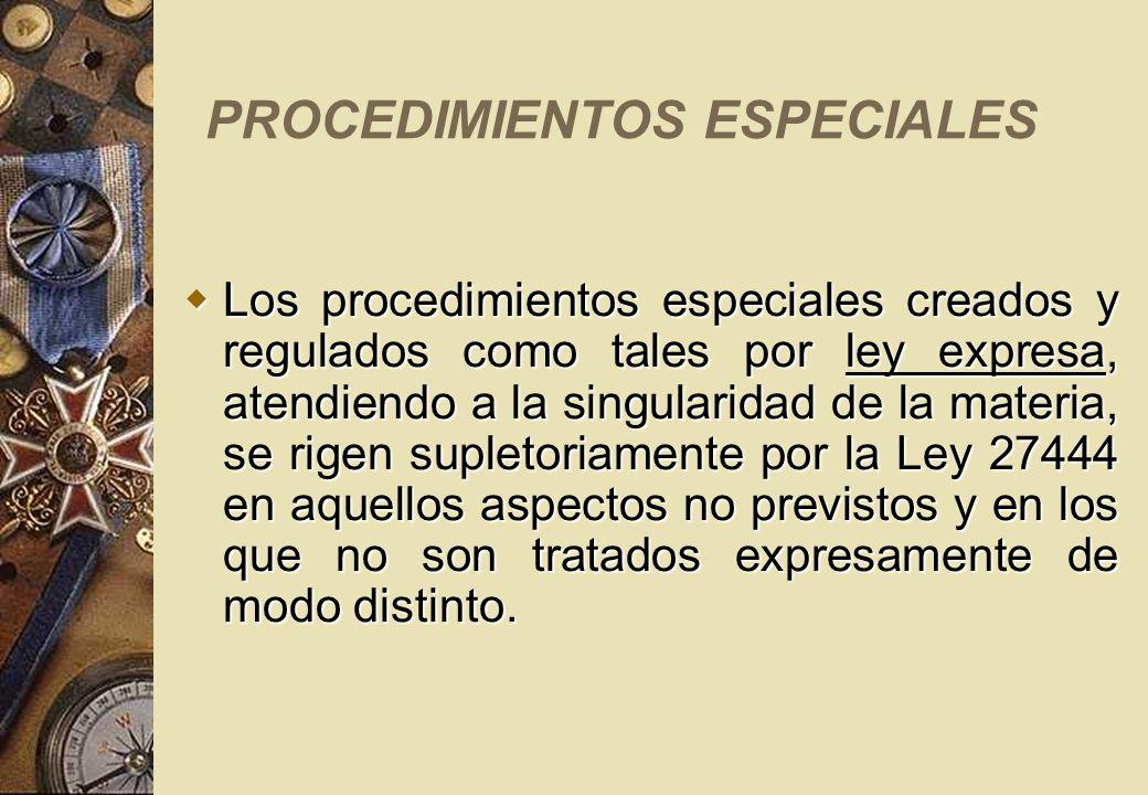 PROCEDIMIENTOS ESPECIALES