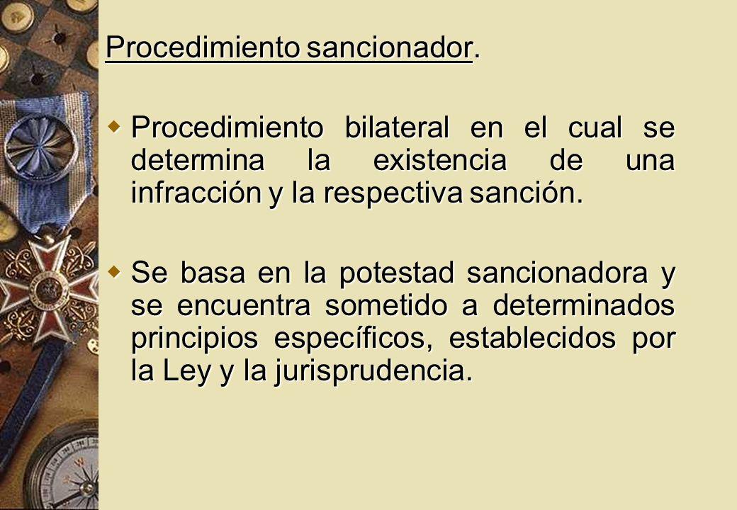 Procedimiento sancionador.