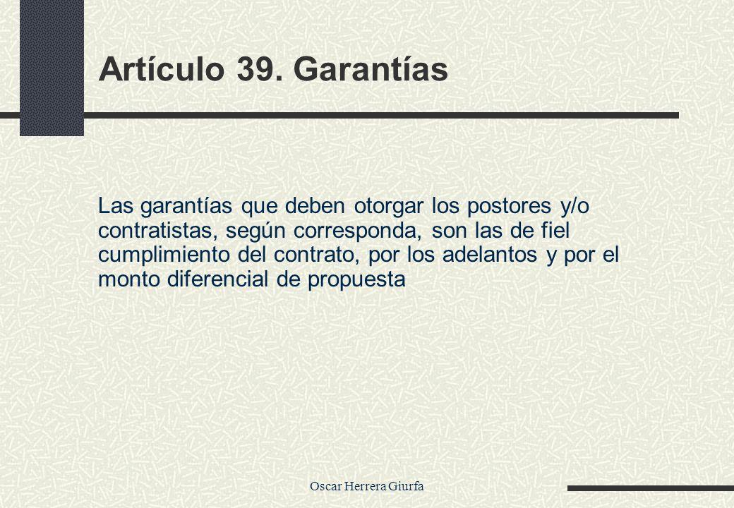 Artículo 39. Garantías