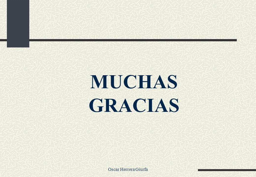 MUCHAS GRACIAS Oscar Herrera Giurfa