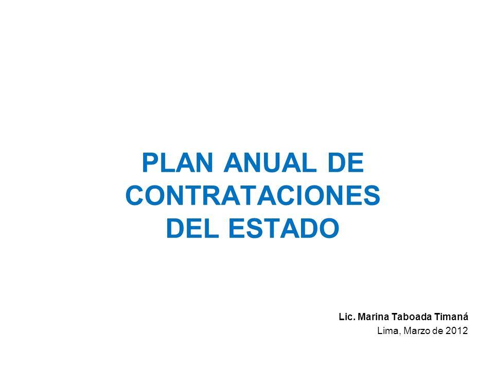PLAN ANUAL DE CONTRATACIONES DEL ESTADO