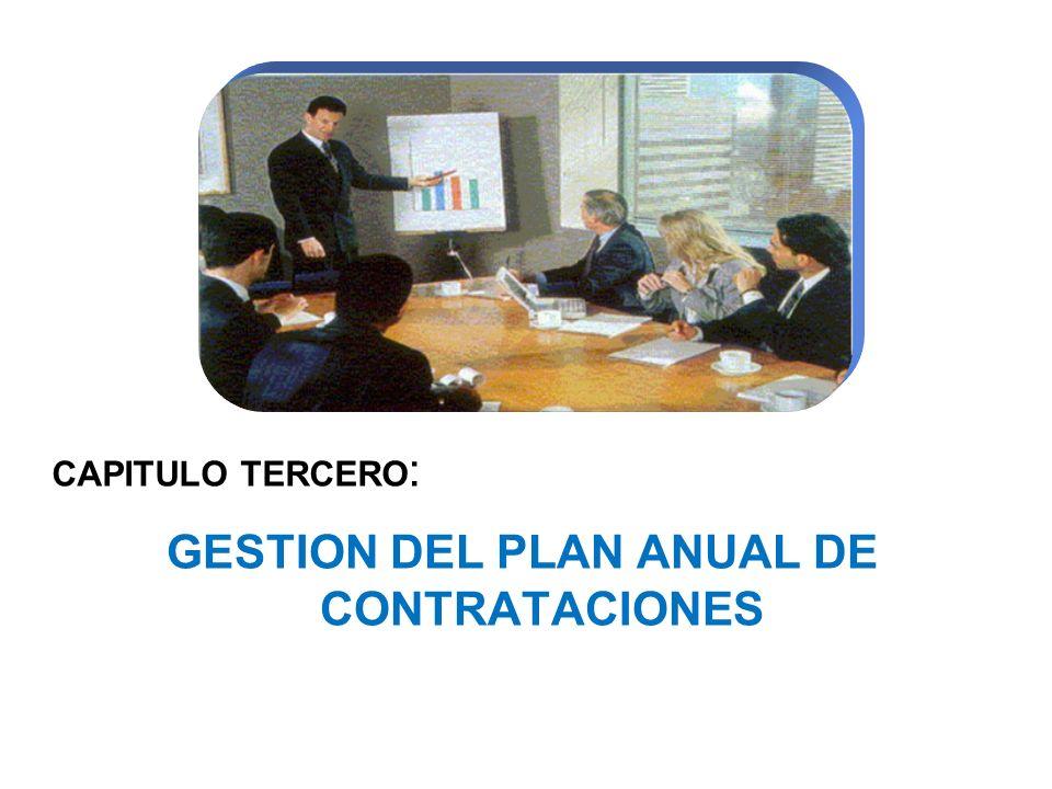 GESTION DEL PLAN ANUAL DE CONTRATACIONES