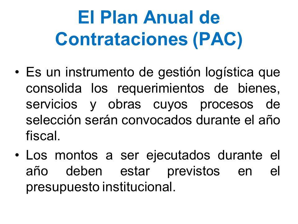 El Plan Anual de Contrataciones (PAC)