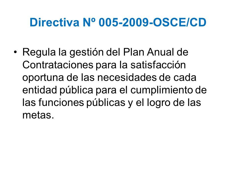 Directiva Nº 005-2009-OSCE/CD