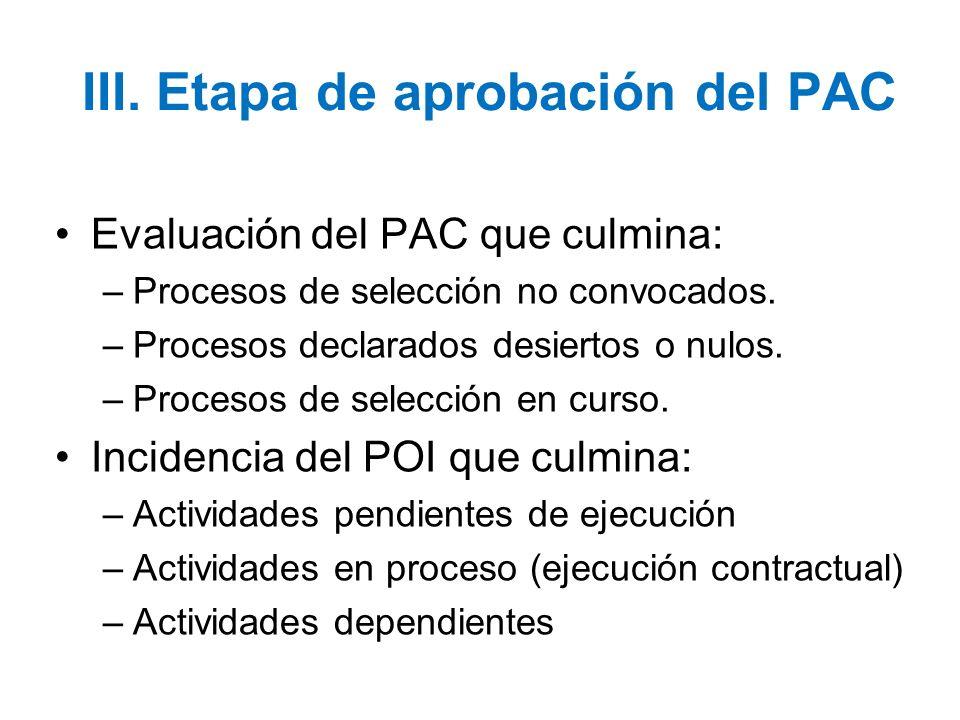 III. Etapa de aprobación del PAC