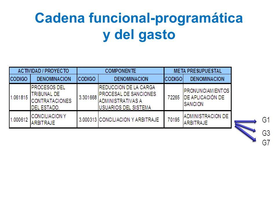 Cadena funcional-programática y del gasto