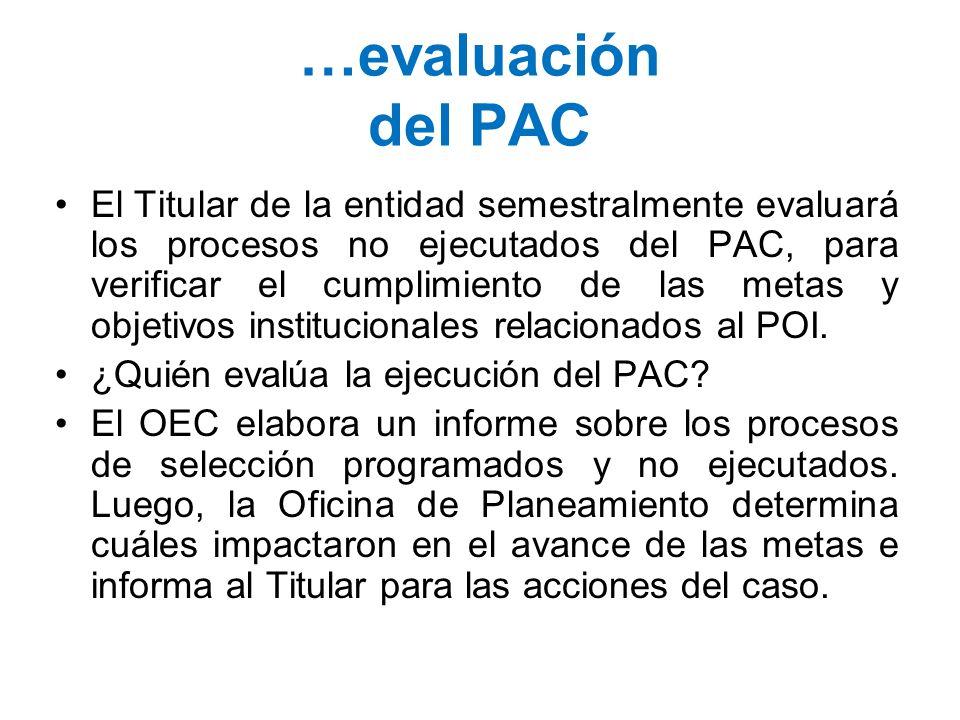 …evaluación del PAC
