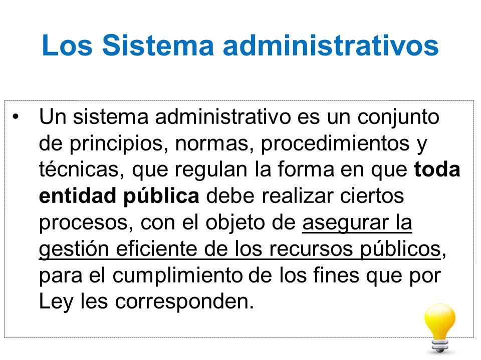 Los Sistema administrativos