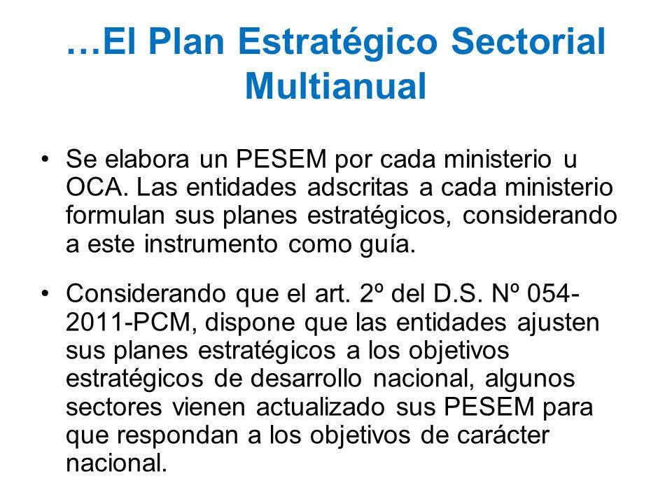 …El Plan Estratégico Sectorial Multianual