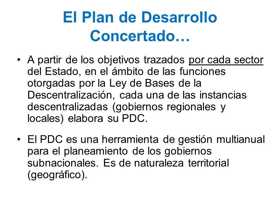 El Plan de Desarrollo Concertado…