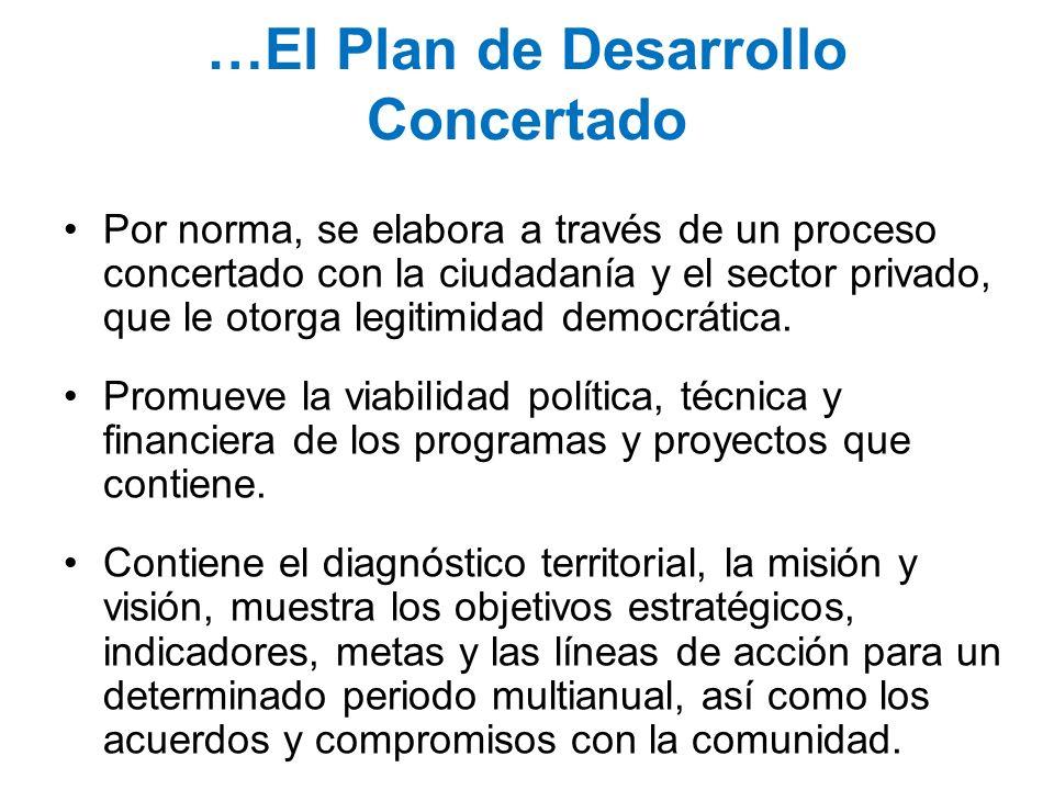 …El Plan de Desarrollo Concertado