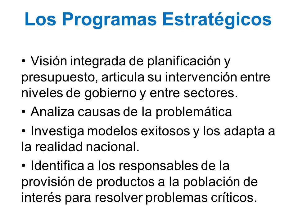 Los Programas Estratégicos
