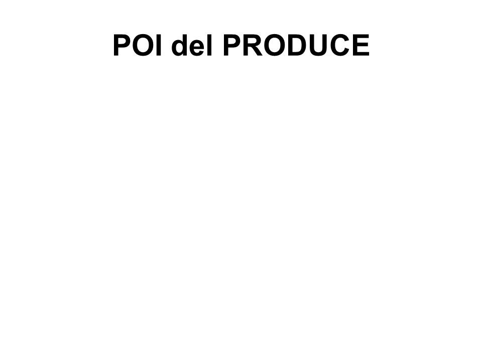 POI del PRODUCE