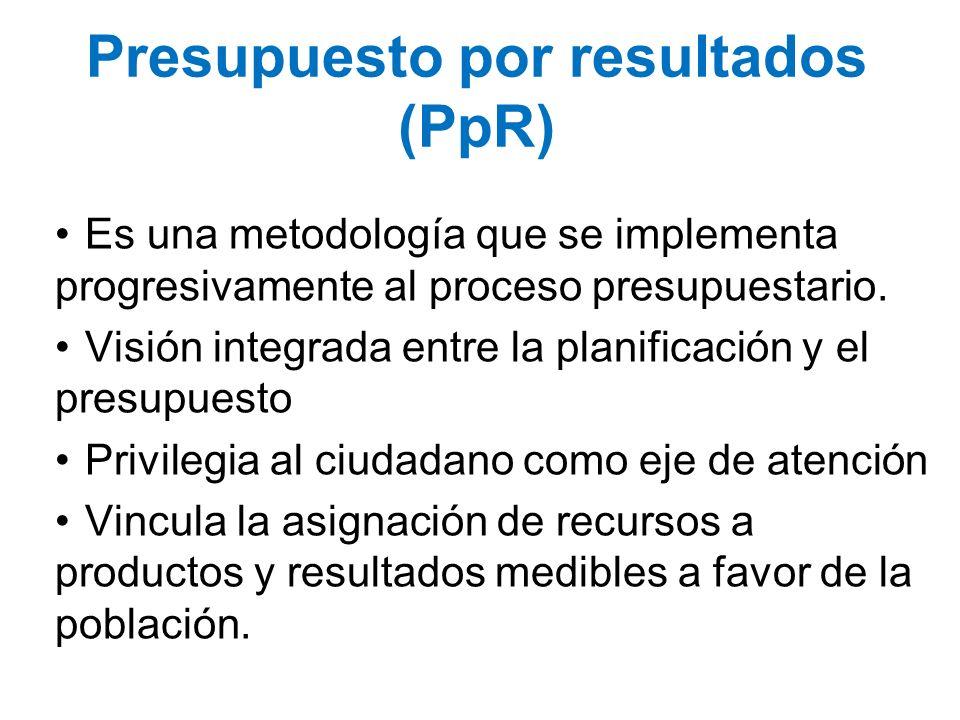 Presupuesto por resultados (PpR)