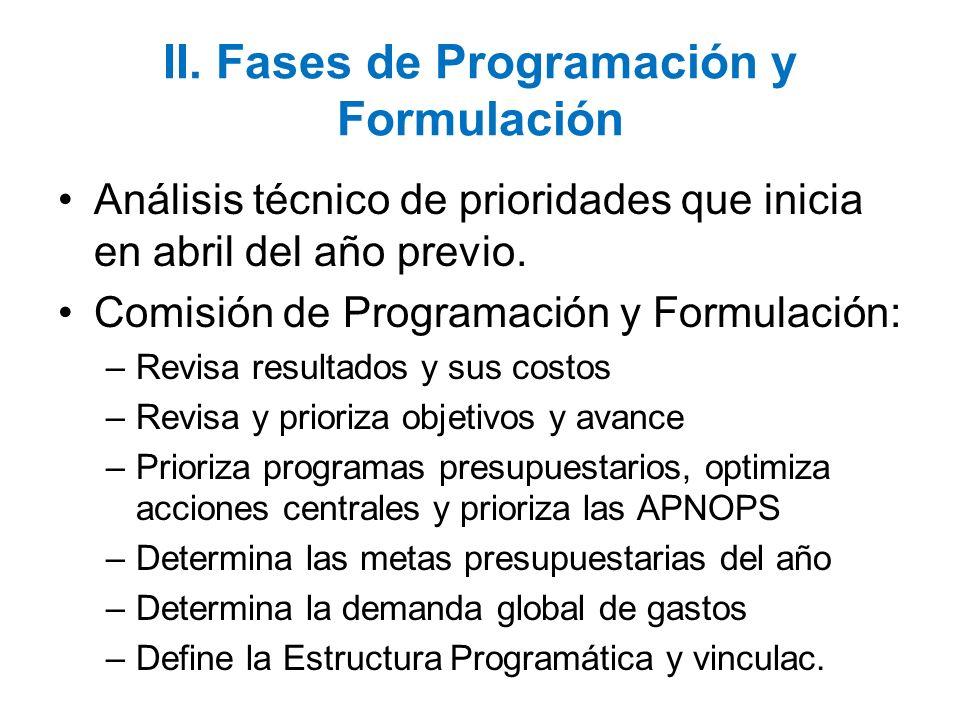 II. Fases de Programación y Formulación