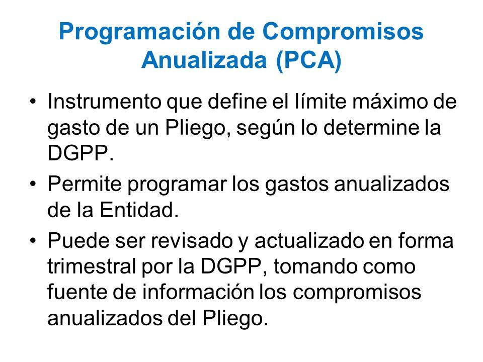Programación de Compromisos Anualizada (PCA)