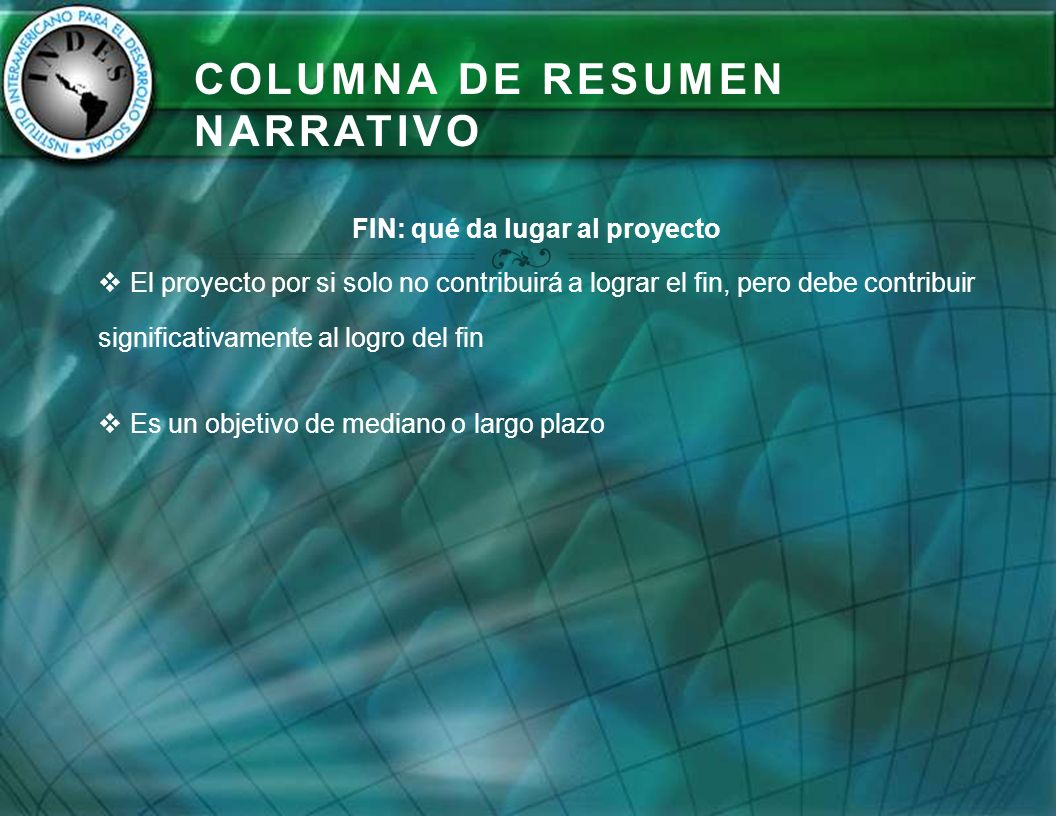 Columna de Resumen Narrativo