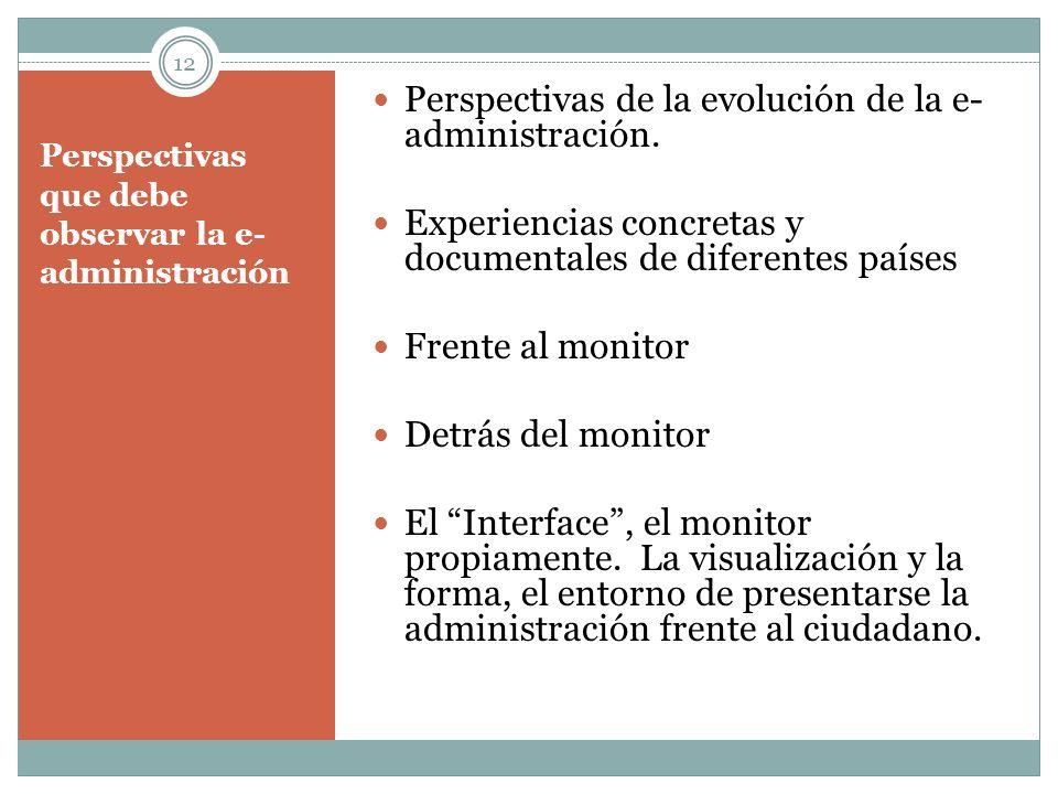 Perspectivas que debe observar la e-administración