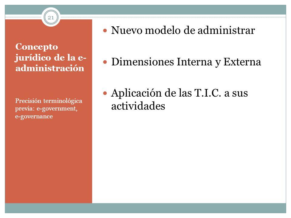 Concepto jurídico de la e-administración