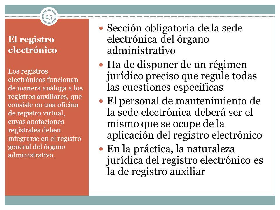 El registro electrónico