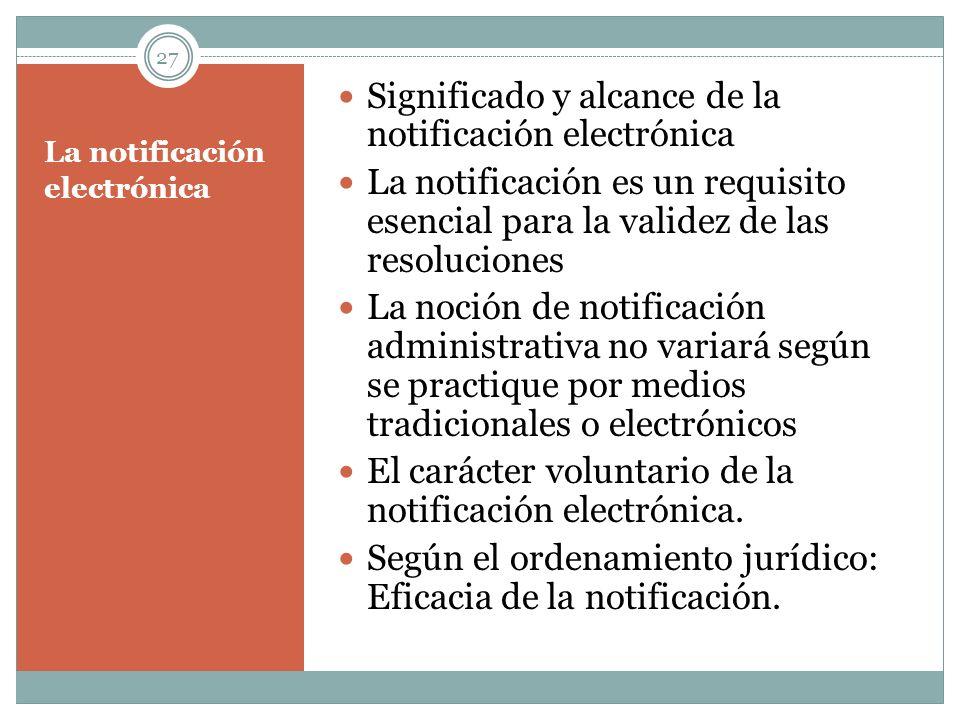La notificación electrónica