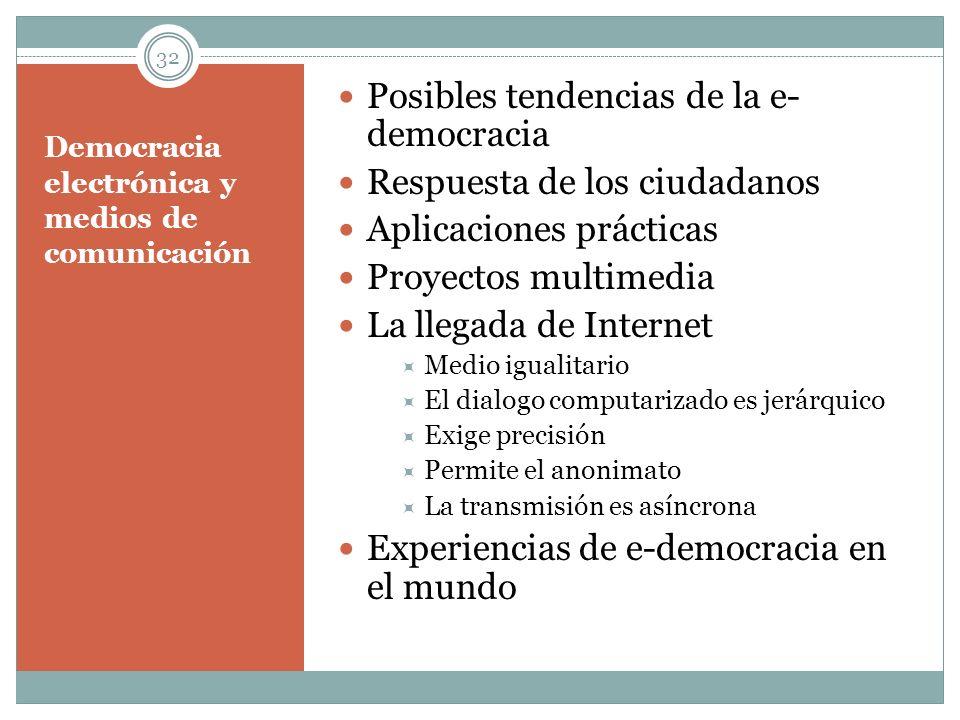 Democracia electrónica y medios de comunicación