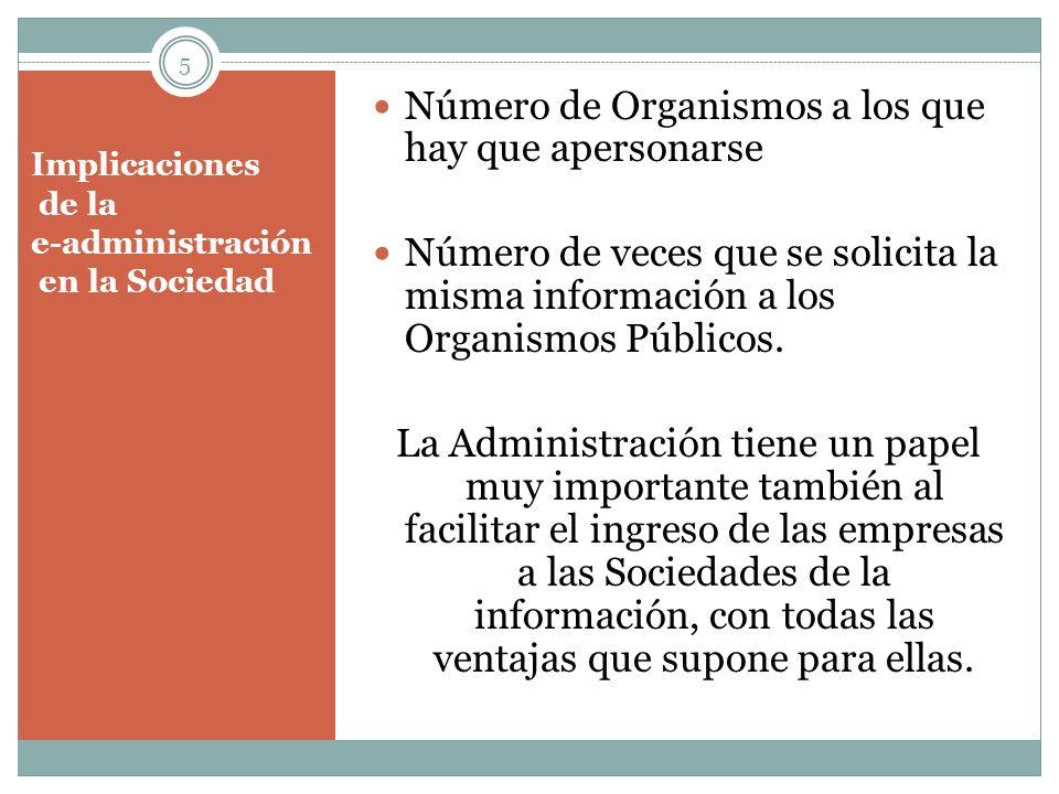 Implicaciones de la e-administración en la Sociedad