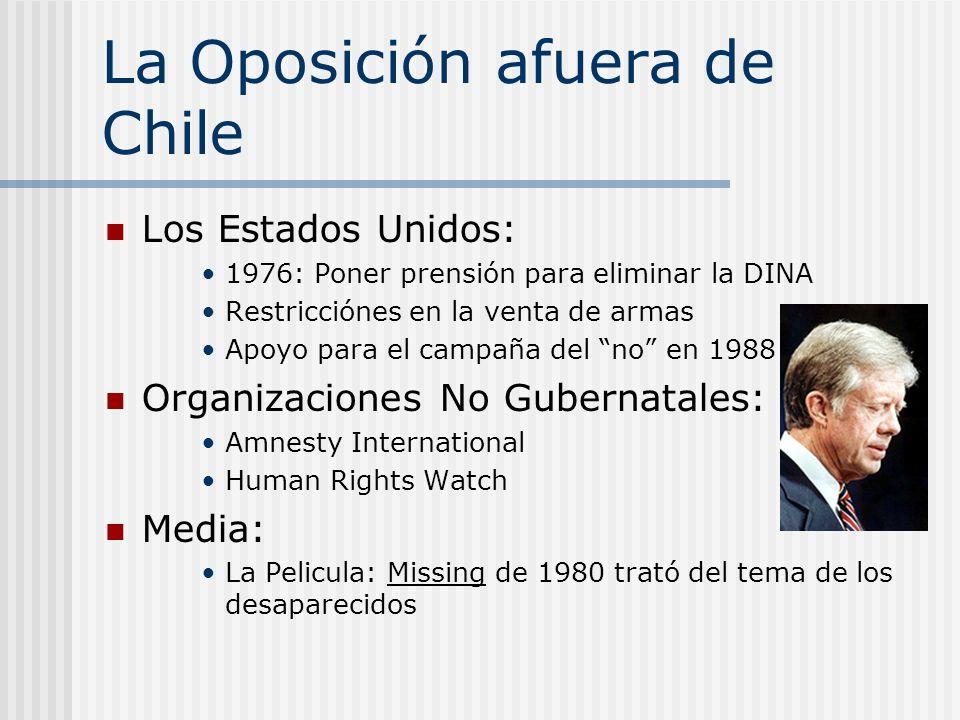 La Oposición afuera de Chile