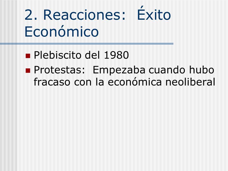 2. Reacciones: Éxito Económico