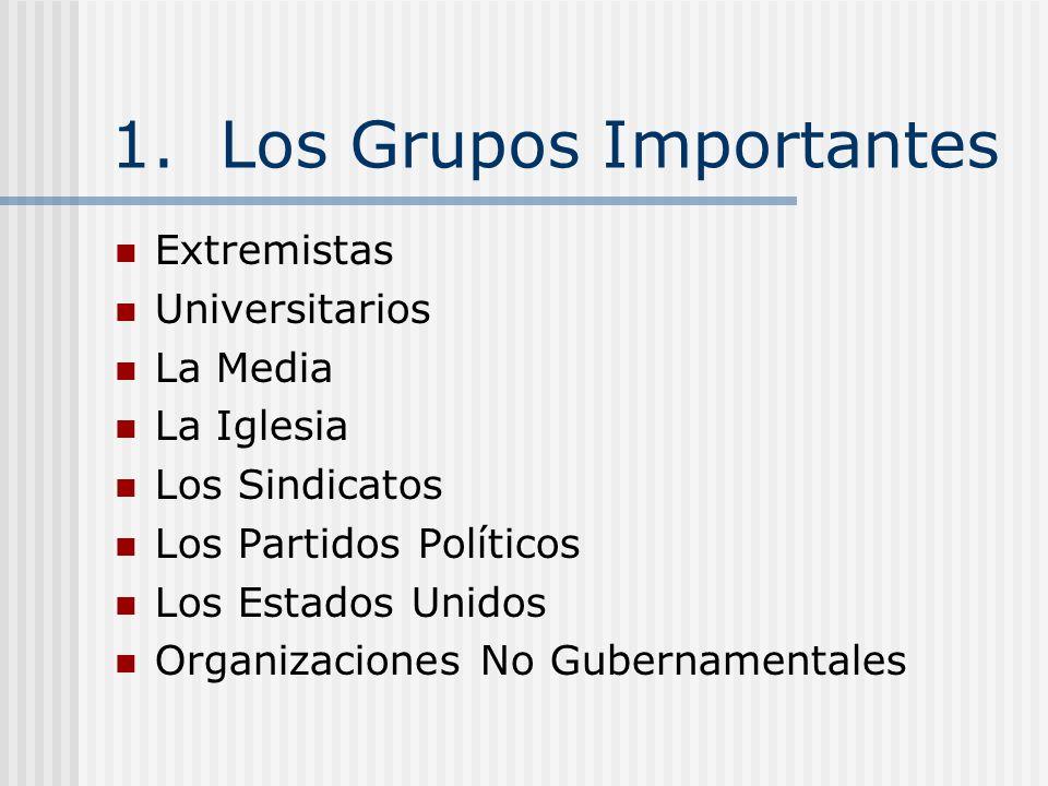 1. Los Grupos Importantes
