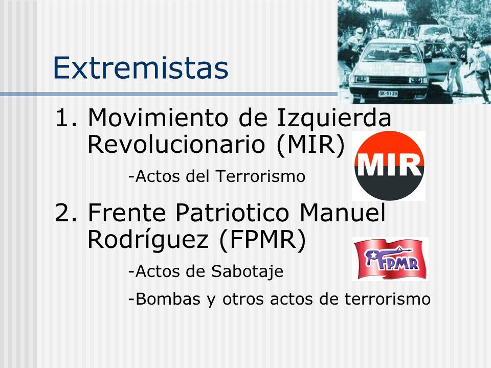 Extremistas 1. Movimiento de Izquierda Revolucionario (MIR)