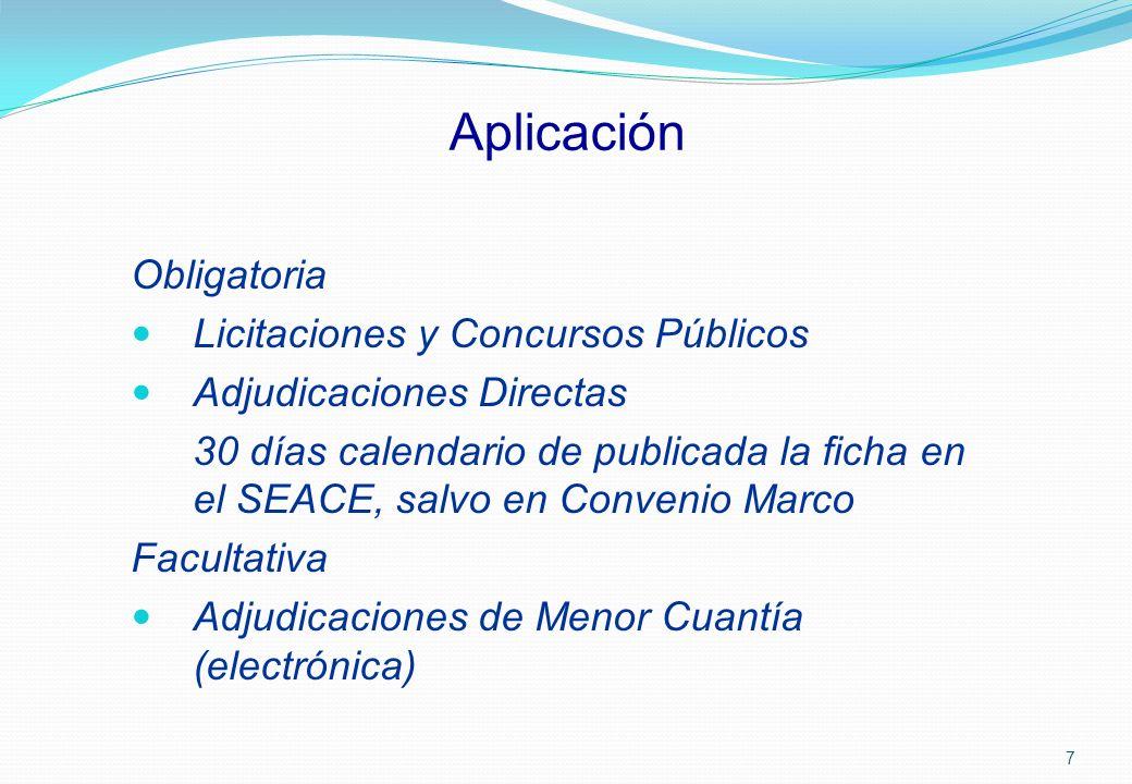 Aplicación Obligatoria Licitaciones y Concursos Públicos
