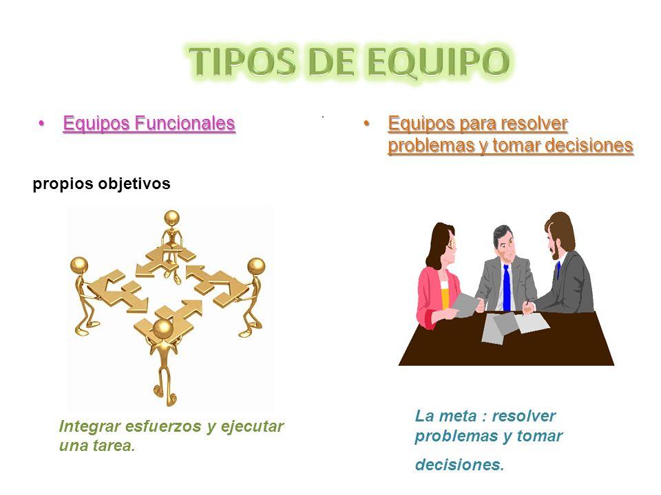 TIPOS DE EQUIPO Equipos Funcionales