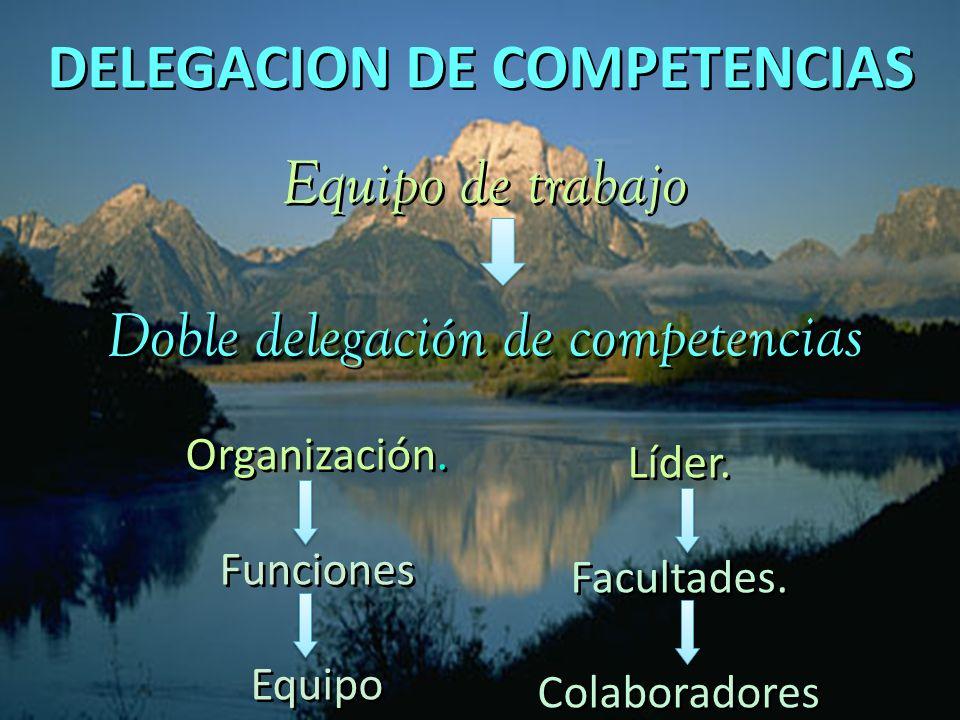 Doble delegación de competencias