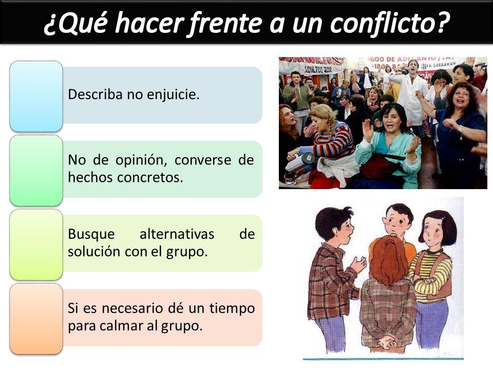 ¿Qué hacer frente a un conflicto