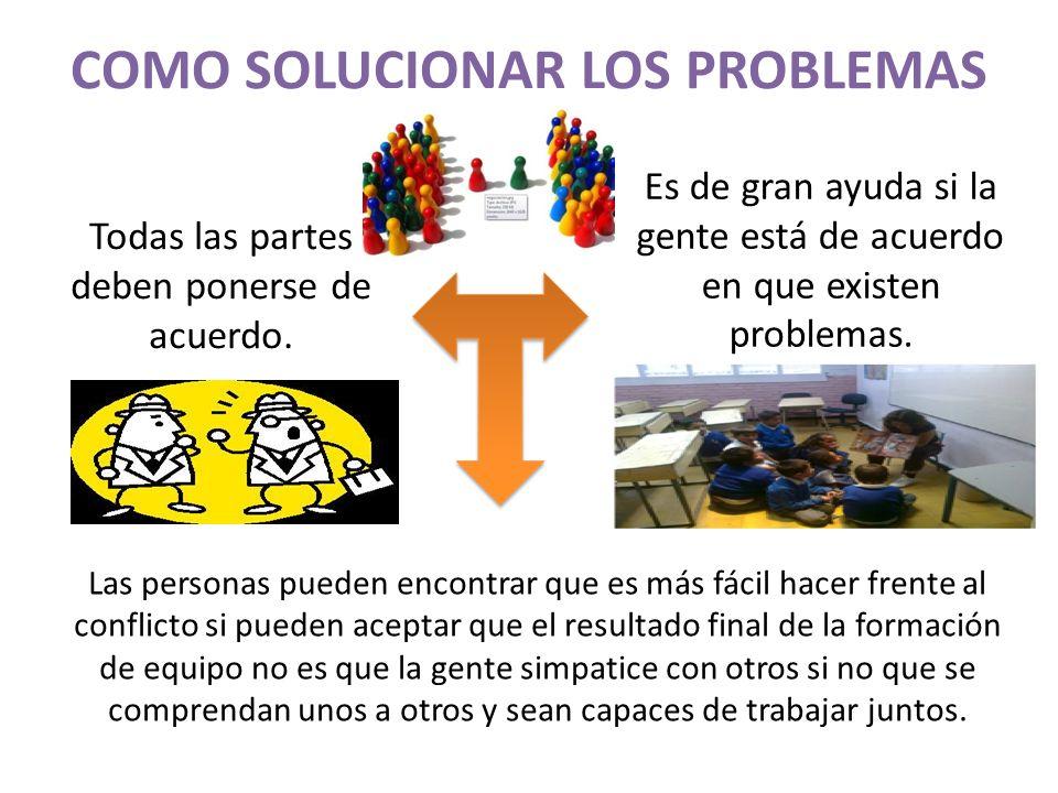 COMO SOLUCIONAR LOS PROBLEMAS