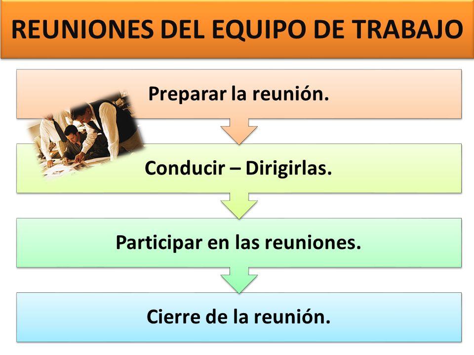 REUNIONES DEL EQUIPO DE TRABAJO