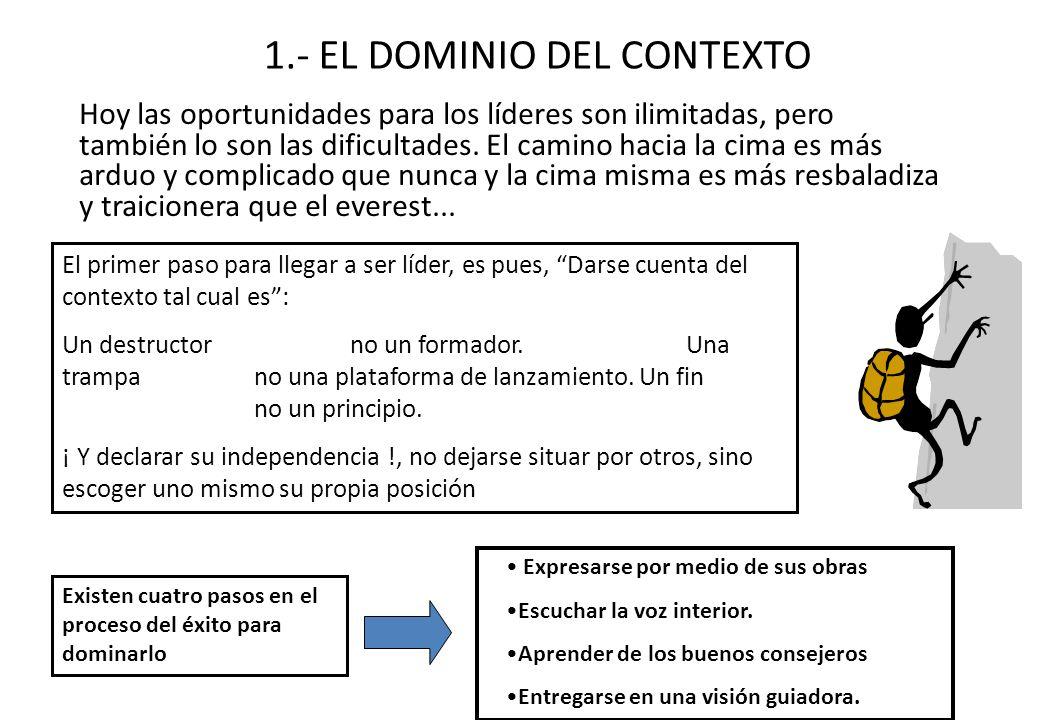 1.- EL DOMINIO DEL CONTEXTO