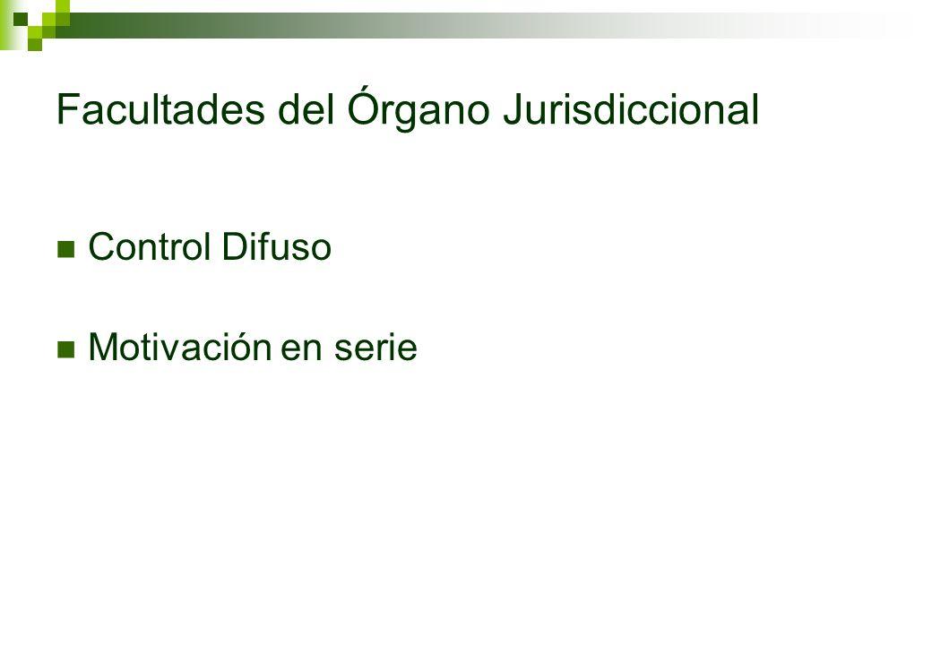 Facultades del Órgano Jurisdiccional