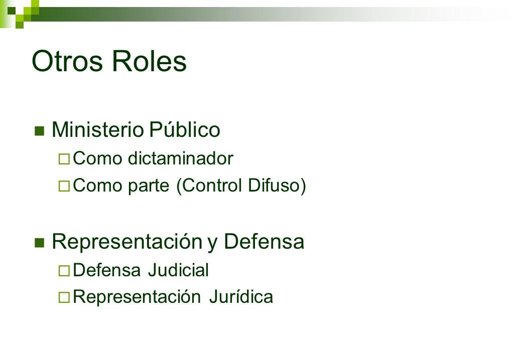 Otros Roles Ministerio Público Representación y Defensa