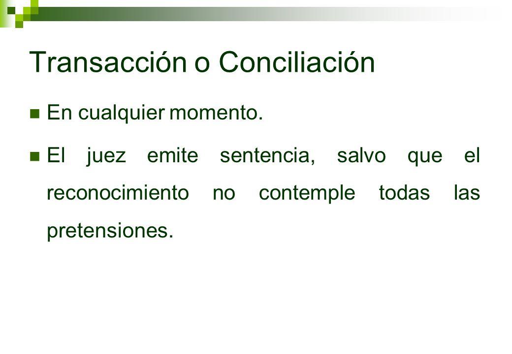 Transacción o Conciliación