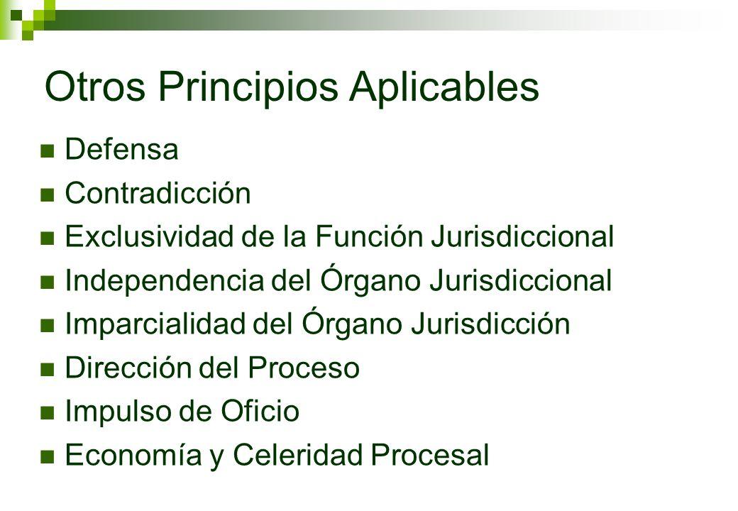 Otros Principios Aplicables