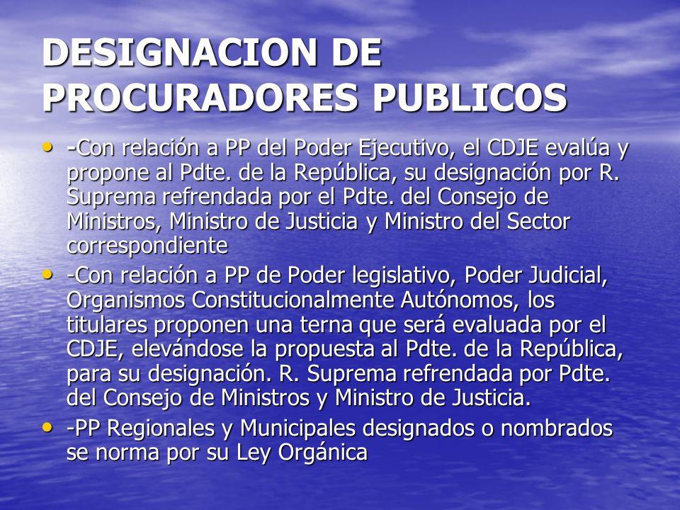 DESIGNACION DE PROCURADORES PUBLICOS