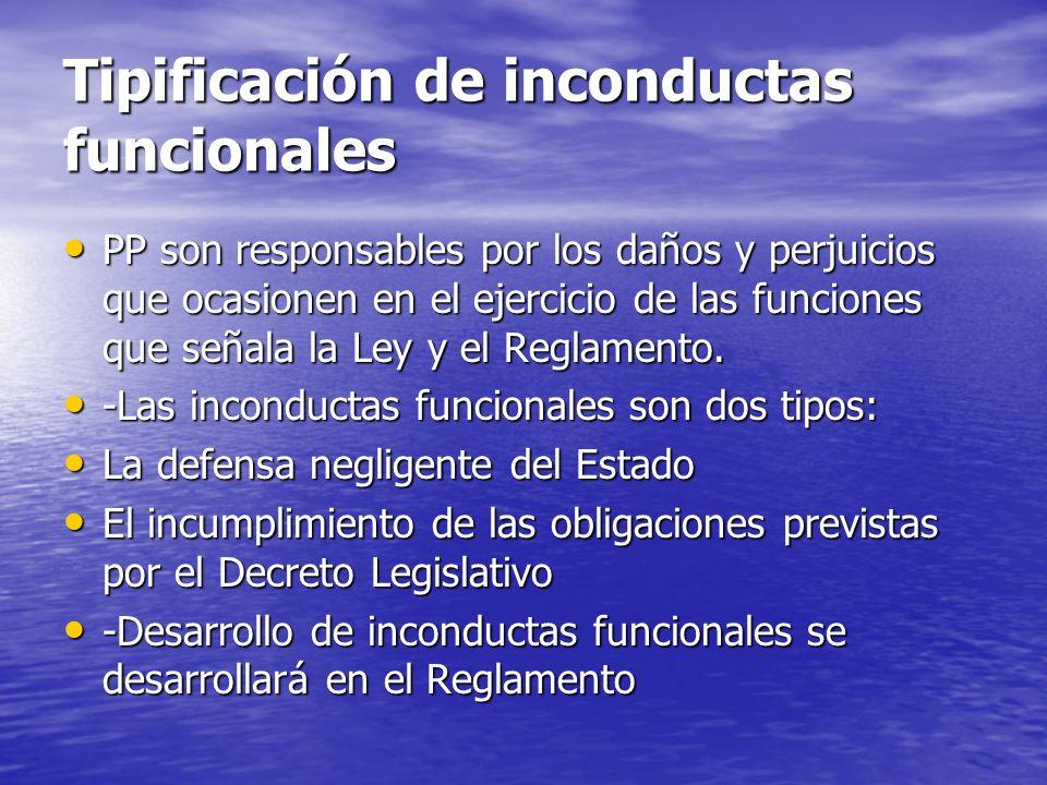 Tipificación de inconductas funcionales