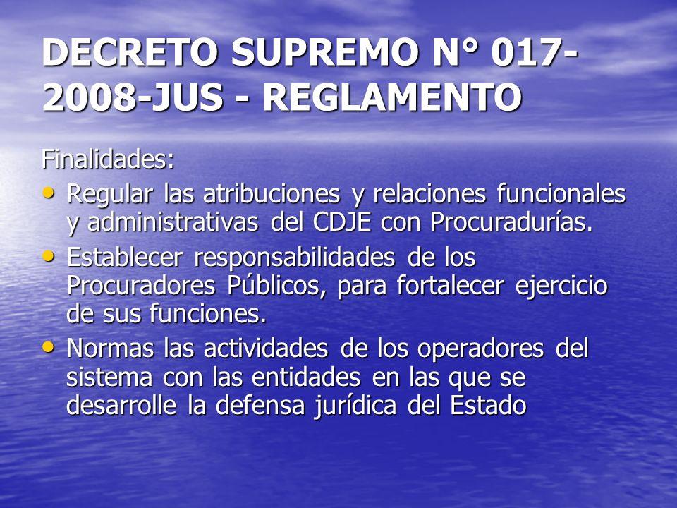 DECRETO SUPREMO N° 017-2008-JUS - REGLAMENTO