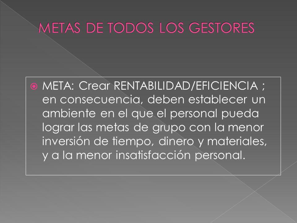 METAS DE TODOS LOS GESTORES