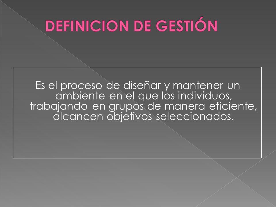 DEFINICION DE GESTIÓN